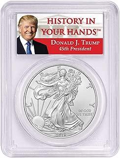 2019-1oz Silver Eagle - Donald Trump Label Dollar MS69 PCGS
