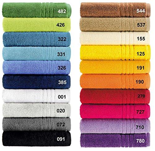 Egeria Handtuch Serie Madison Premiere Qualität in 20 Farben und 5 Größ Größe Duschtuch 70x 140 cm, Farbe (072) Stone