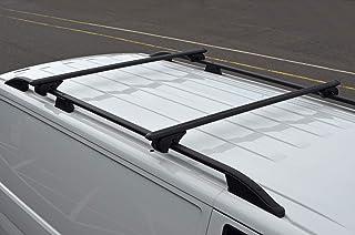 ALVM Parts & Zubehör Schwarze Querstangen für Dachreling für T6 Transporter 100 kg abschließbar