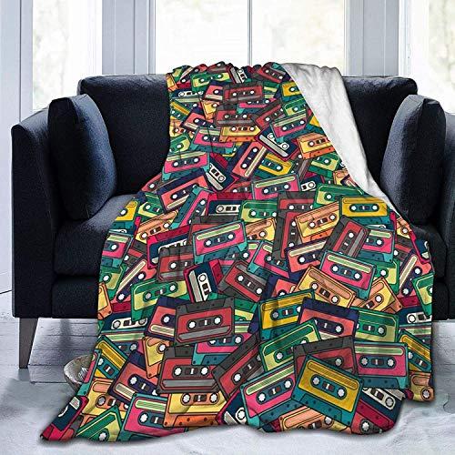 Decke Bunte Kassettenmuster Flanell Fleece Überwurfdecken für Baby Kinder Männer Frauen, weiche warme Decken Queen Size und Überwürfe für Couch Bed Travel Sofa