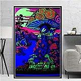 KWzEQ Imprimir en Lienzo Luz Negra mágica para Sala de Estar Cuadros Decorativos y Carteles Arte de pared30x45cmPintura sin Marco