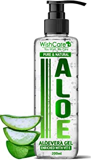 WishCare® Pure & Natural Aloe Vera Gel - 200 Ml - Enriched With Vitamin E - Multipurpose Gel for Skin and Hair