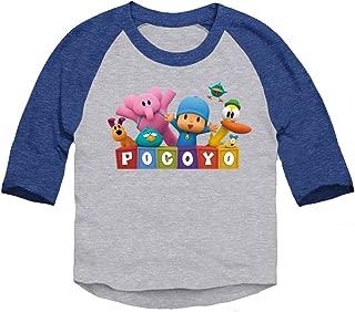 Pocoyo - Pocoyo Logo with Friends Toddler 3/4 Sleeve T-Shirt