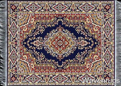 Inusitus tapijt muismat - kantoor accessoires - Oosterse mini tapijt computer accessoires donkerblauw