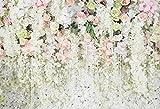 Huayi Rideau de fond de mariage Fleurs de Navarre Décorations Photo Fond Baby Shower Dessert Table Blush Fond 220x150cm Xt-5848