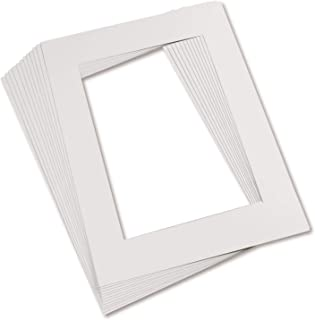 Pacon PAC72510 Pre-Cut Mat Frames, 11.5 x 16.75 Inch Frame, 8 x 10.75 Inch Window, White, Pack of 12