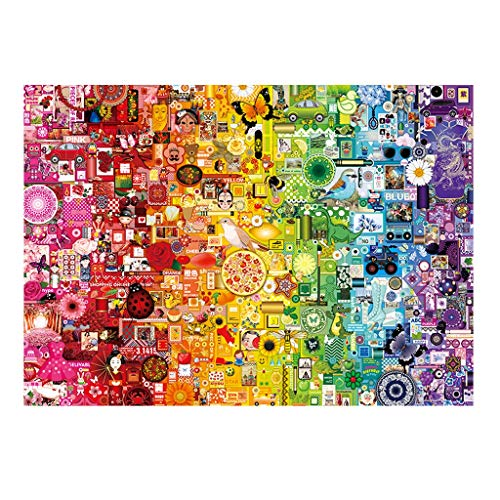 RKL Rompecabezas De La Serie Rainbow, 1000 Piezas De Rompecabezas De Papel, Juegos De Rompecabezas para Adultos, Regalos para Madres (Color : Rainbow)