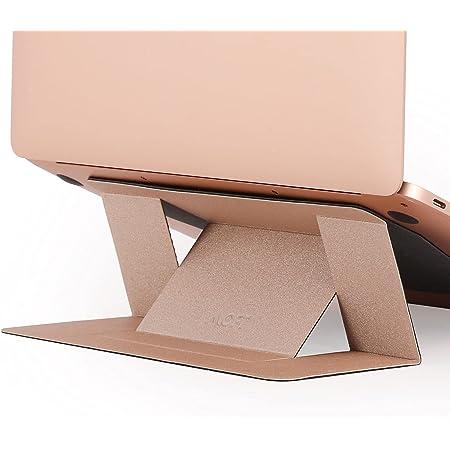 正規代理店】MOFT ノートパソコンスタンド PCスタンド 二段階調整可能 超軽量 超極薄 Macbook Pro/Air/タブレット/その他ノートPC 最大15.6インチまで対応 (放熱穴無し, Gold)