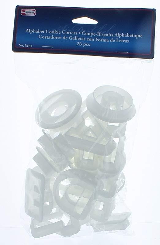 Symak K0163 X White Plastic Alphabet Cookie Cutters 1 1 2 Tall