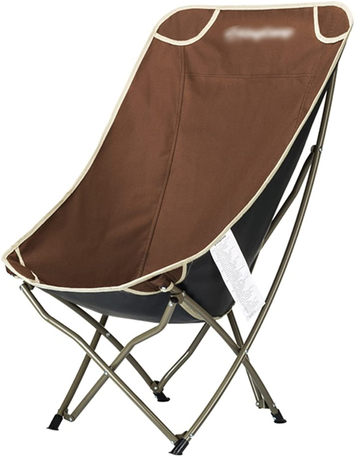 ZGL Outdoors Outdoor Folding Chair Portable Beach Casual Chair Folding Fishing Stool Backrest Writing Chair Outdoor Chair Size Optional (Size   L-655435 91CM)