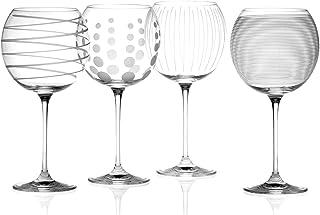 Creative Tops Mikasa Cheers Globos de Cristal Gafas, Juego de 4, Multi-Color