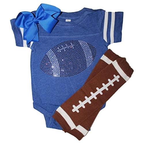 FanGarb Rhinestone Infant Toddler Baby Girls Football Team Color Outfit 0f7164984