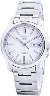 Seiko Automatic White Dial Stainless Steel Men's Watch SNKL75