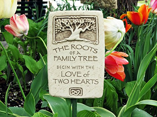 Carruth Studio, Roots of Love Wall Plaque, Original Sculpture Handcrafted in Stone, Artisan Made