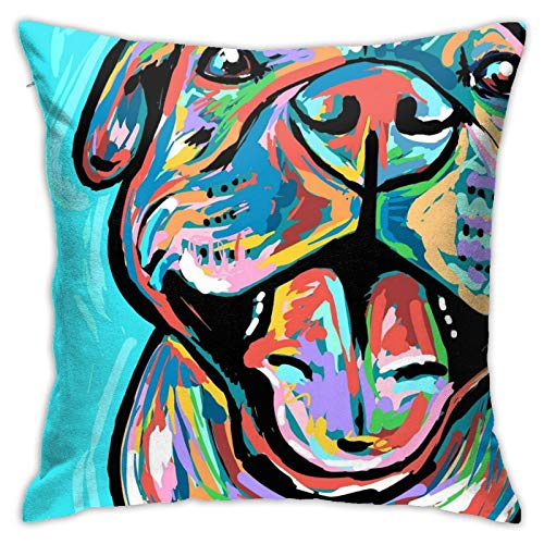 antoipyns Pitbull Pillow Cover Square Sea Home Sofa Decorative Throw Pillow Case Cushion Cover 18'x 18'Inch