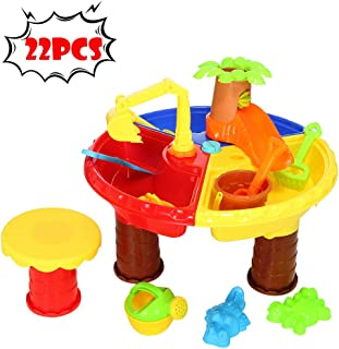 Hli-SHJHsmu Children Summer Beach Toy Large Baby Play Water Digging Sandglass Play Sand Tool Beach Table Toys & Hobbies (A Round)