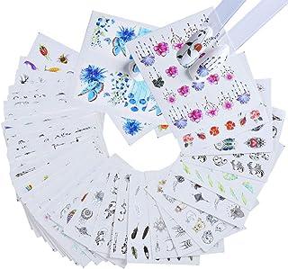 Etiquetas engomadas arte clavo Calcomanías marca agua clavo Set Flor colorida Decoraciones etiqueta engomada clavo Kits de...