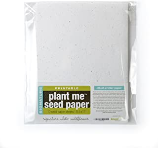 Bloomin Signature 10 pt. Seed Paper for Inkjet Printers - 50-75% Germination Rate - 8.5x11 Sheets (1 Pack- 10 Sheets)