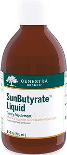 Genestra Brands SunButyrate Liquid | Butyric Acid Triglyceride | 9.5 fl. oz. | Natural Blueberry-Vanilla Flavor