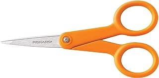 Fiskars 94817797 Micro-Tip Scissors, 5 Inch, Orange