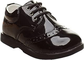 Garçons élégant Formel Chaussures Noir Lacets Mariage Enfant Junior Communion Fête