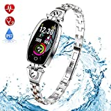 TONVER <span class='highlight'>Fitness</span> Trackers <span class='highlight'>with</span> <span class='highlight'>Blood</span> <span class='highlight'>Pressure</span> Monitor, Luxury Fashion Smart <span class='highlight'>Watch</span> Waterproof Strap Heart Rate Monitor Sleep Activity Bracelet Gifts for Women Men (Silver)