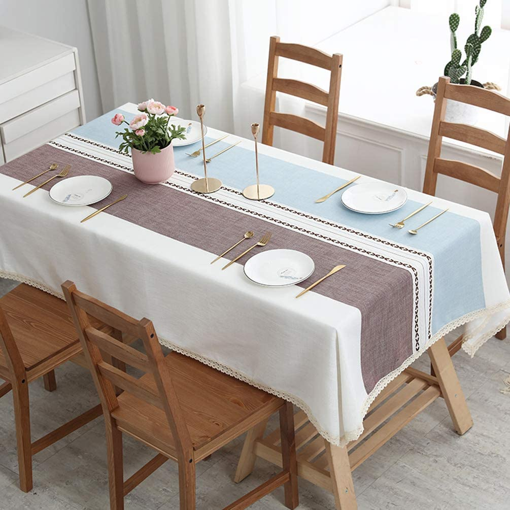 LEMON. Floral 高価値 Lace Tablecloth 100% Dust-Proof 往復送料無料 Waterproof PVC Wip