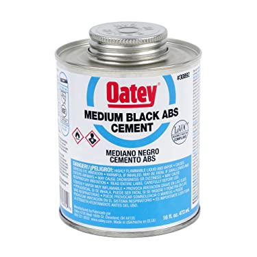 Oatey 30892 Medium Bodied Solvent Cement, 16 Oz, Can, Liquid, Black