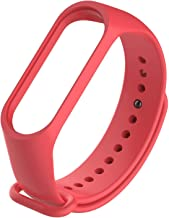 Jump Start Watch Strap for Xiaomi mi Band 3/Xiaomi mi Band 4, Soft Silicone Band Fitness Sports Activity Bracelet Wristband with Clasp for Xiaomi Mi Band 3/Mi Band 4 (RED)