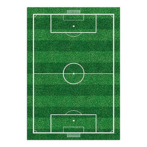Alfombra Vinílica Infantil, 84 x 120 cm, Campo de Fútbol, Vinilo Decorativo para Estancia Infantil de Niños y Bebés, ALV-082