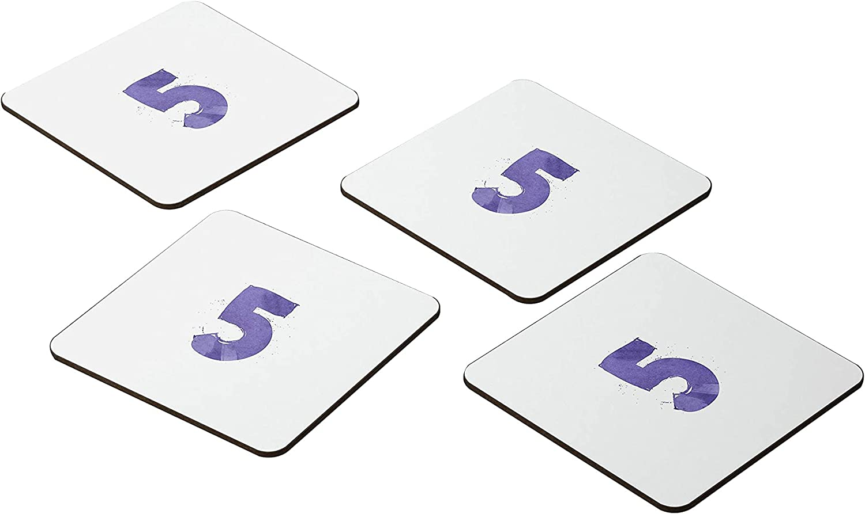 Bonamaison Coasters - Set of Max 74% OFF 4 New item MDF E 9x9CM -Premium Absorbent