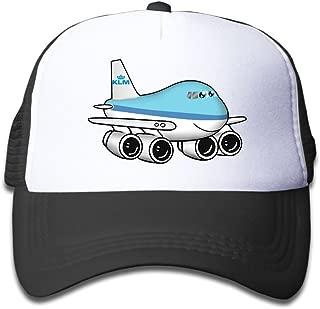 Elephant AN Cute Aeroplane Mesh Baseball Cap Kid Boys Girls Adjustable Golf Trucker Hat