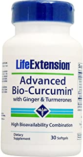 Life Extension Advanced Curcumin Elite Turmeric Extract, Ginger, & Turmerones 30 softgels