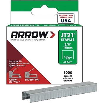 Arrow Fastener 276 Genuine JT21/T27 3/8-Inch Staples, 1,000-Pack