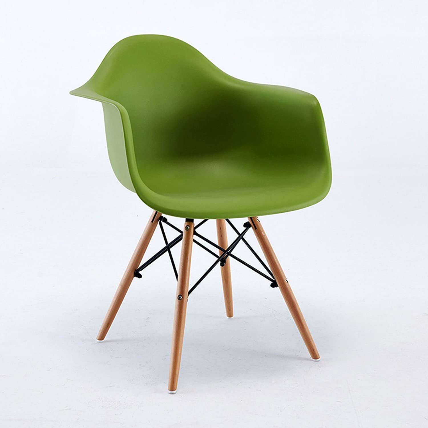 LRW European Style Home Leisure Computer Chair, Study Office Chair, Conference Chair Backrest Chair (color   Green)