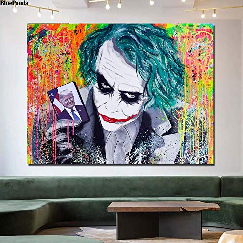 wojinbao Nordic art posterTrump Is The Joker es Canvas ng Oil Print Poster Wall Art Picture For Living Room Home Decor