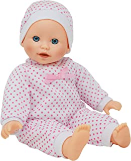 The New York Doll Collection 14 inch Soft Body Caucasian Baby Doll - Newborn Dolls for Girls with Doll Pacifier (B123)