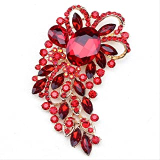 CBCJU Personalidad Creativa de Moda Broche de Cristal Accesorios de Banquete de Mujer de Gama Alta 10.6 * 5.2cm