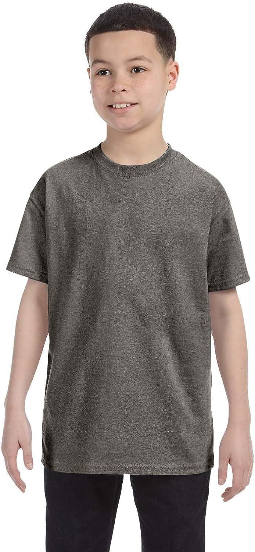Gildan Youth 53 Oz T-Shirt - Graphite Heather - L - (Style # G500B - Original Label)