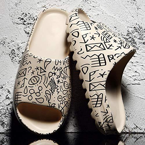Ririhong 2021 Nuevas Zapatillas para Hombre, Interior, hogar, Verano, Playa, toboganes al Aire Libre, Zapatillas para Mujer, Zapatos con Plataforma, Mulas, Zapatos Planos para Mujer -36_8
