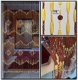 wooden bead door curtain - BeadedString Wood Beaded Curtain-31 Strands-72 High-Natural Wood Beaded Door Beads-Doorway Curtain-35.5