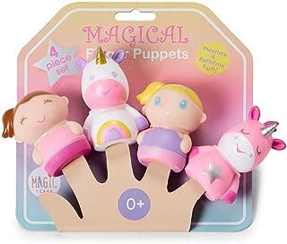 RUSHTI & RUSHTI Magic Years Set of 4 Unicorn Finger Puppets for Playtime & Bathtime