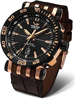 Vostok-Europe Energia 2 NH35A/575E282 Leather Brown Rose Gold Watch Pilot Automatic 49mm