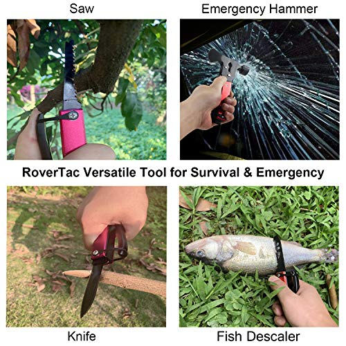 61IG93GzN4L - RoverTac Multitool Camping Tool Survival Gear Handy Gifts for Men Women UPGRADED 14 in 1 Stainless Steel Sturdy Multi Tool with Axe Hammer Knife Saw Plier Screwdrivers Bottle Opener Durable Sheath