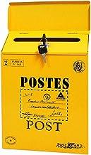 Gshhd0 Vintage ijzeren wandhouder, brievenbus, afsluitbaar, brievenbus, fotografie, wandaccessoires, bruiloft, bar, café, ...