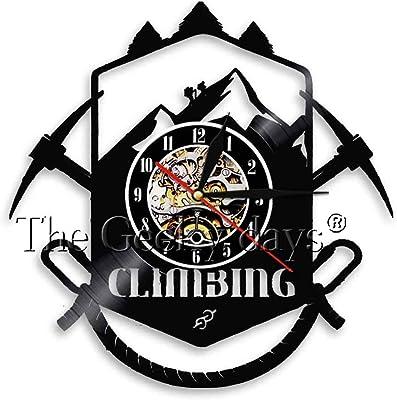WJHXYD Logotipo De Escalada De Montaña Reloj De Pared Ruta De ...