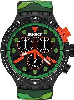 Big Bold Chrono Quartz Silicone Strap, Green, 20 Casual...