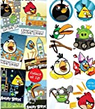 22 Angry Birds Stickers and Tattoos - 10 tats & 12 Stickers
