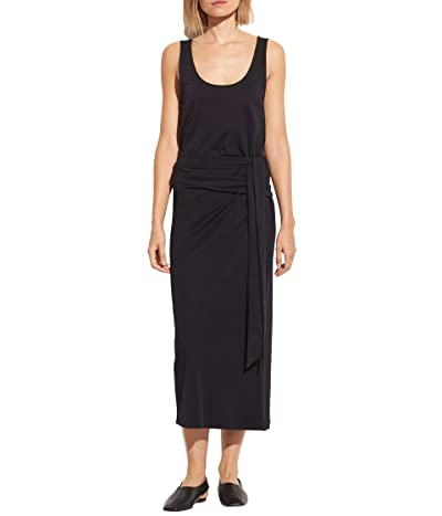 Vince Sleeveless Wrap Dress (Black) Women
