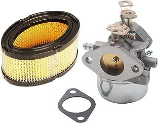 HIFROM Carburetor Carb 640349 640052 640054 with Air Filter 33268 33263 Replace for Tecumseh 8hp 9hp 10hp HMSK80 HMSK90 Snow Blower Generator Chipper Shredder